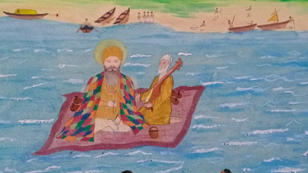 #Bharuch - ગુરુનાનક જ્યંતી : 501 વર્ષ પેહલા ગુરૂનાનક સાહેબે ચાદર પર બેસી નર્મદા નદી પાર કરતા ગુરુદ્વારાનું નામ 'ચાદરસાહીબ' પડ્યું
