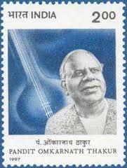 Gujarat, Late Pandit Omkarnath Thakur (Stamp)