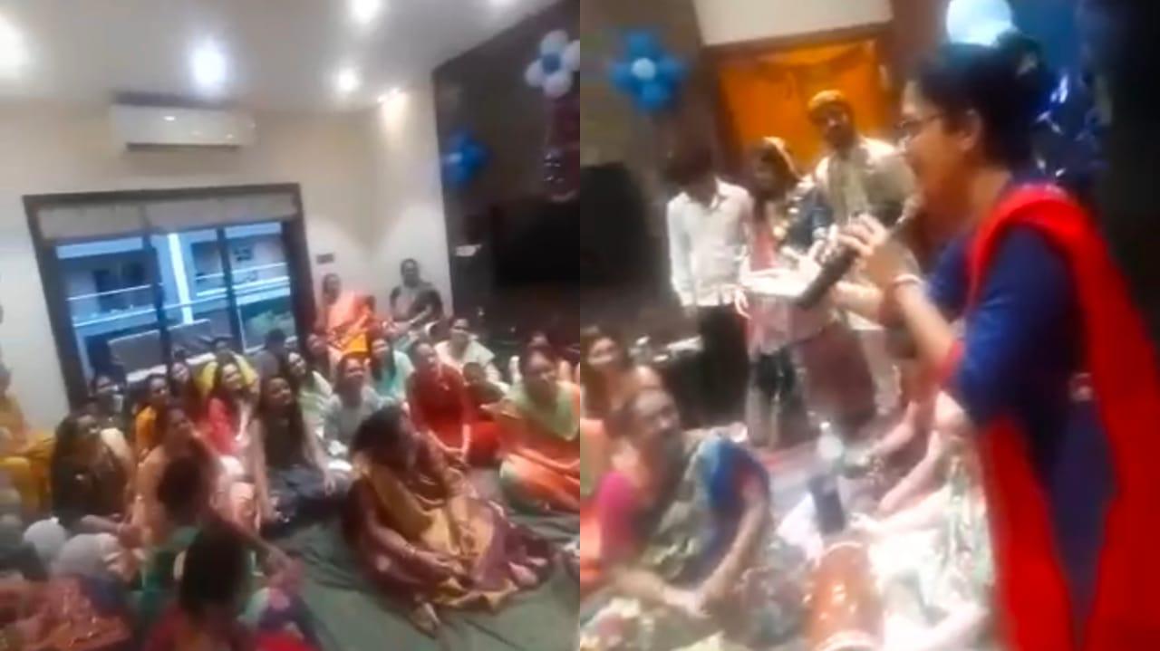 Gujarat, Surat Female Sings a song gone viral on social media