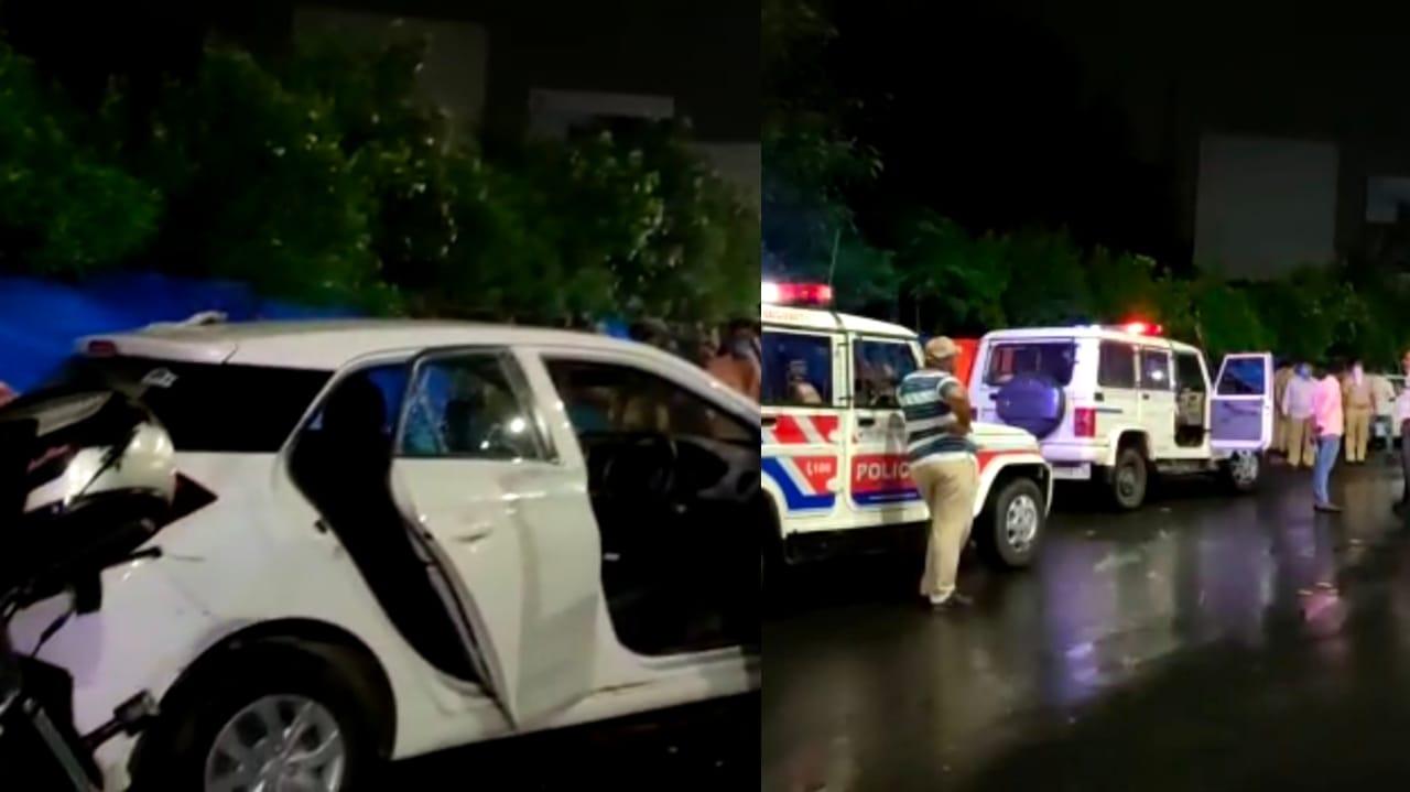 Gujarat, Ahmedabad Late Night Car Race Hit & run