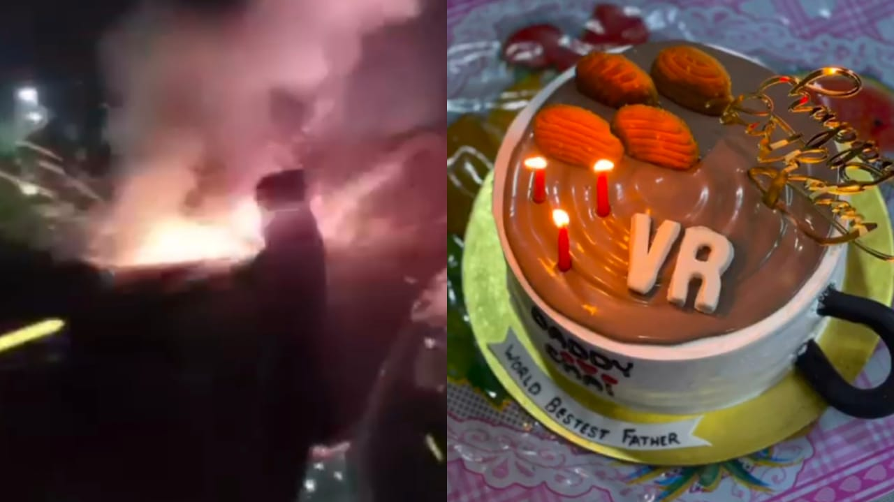 Gujarat, Surat bootlegar celebrating birthday in night curfew